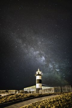 milky way over Southsea castle 2015