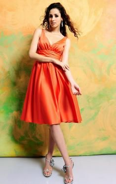 Possibly for Krysten's wedding ??? Orange Bridesmaid Dresses, Burnt Orange Bridesmaid Dresses UK