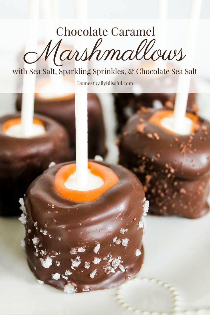 No matter how you top them or eat them these Chocolate Caramel Marshmallows are a perfect sweet treat to add to any dinner or party!