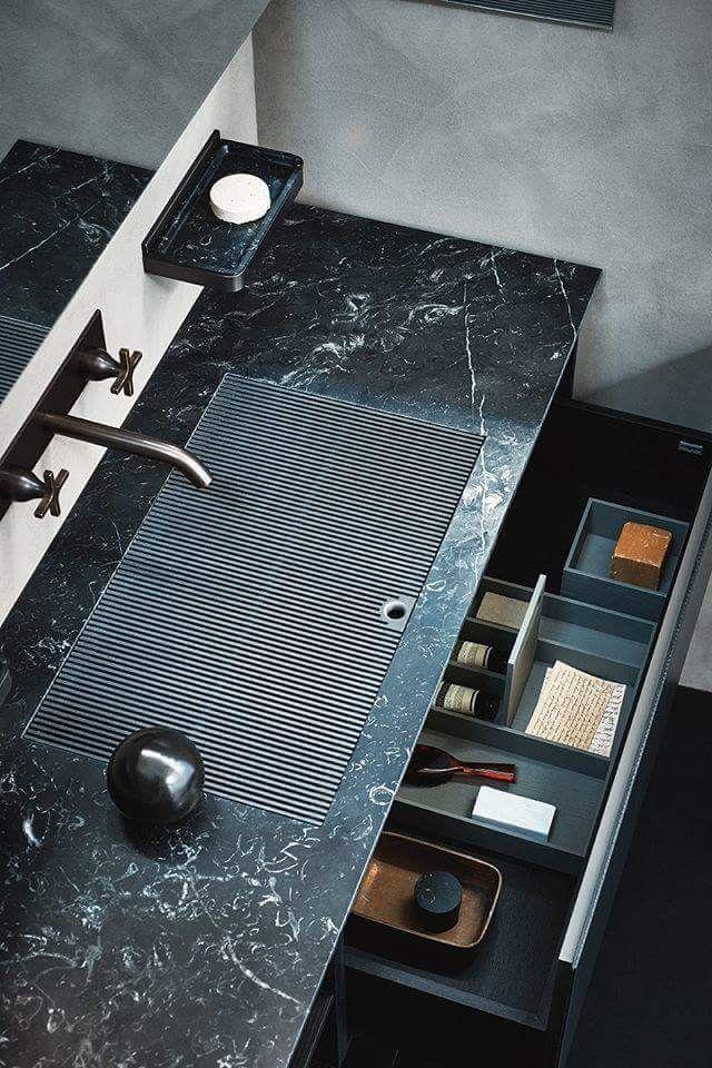 Innovative sink design #ContemporaryInteriorDesignbathroom