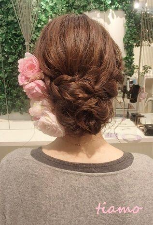 人気の編み込みダウンアップスタイル♪リハ編 |大人可愛いブライダルヘアメイク『tiamo』の結婚カタログ|Ameba (アメーバ)