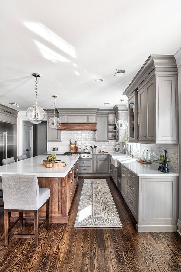 The Most Popular Kitchens Of 2018 All Have This In Common Farmhouse Kitchen Remodel Grey Kitchen Designs Kitchen Remodel Small Most popular kitchen room decoration
