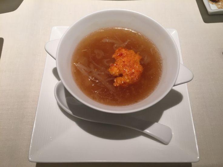 ふかひれ&蟹の卵スープ@帝国ホテル北京
