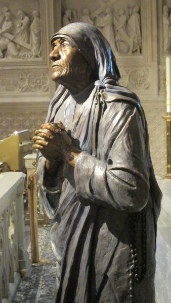 Photos are of a new statue of St. Teresa of Calcutta at St. Patrick's Cathedral.