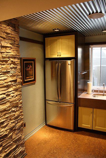 Best 25 corrugated tin ceiling ideas on pinterest for Metal barn over basement