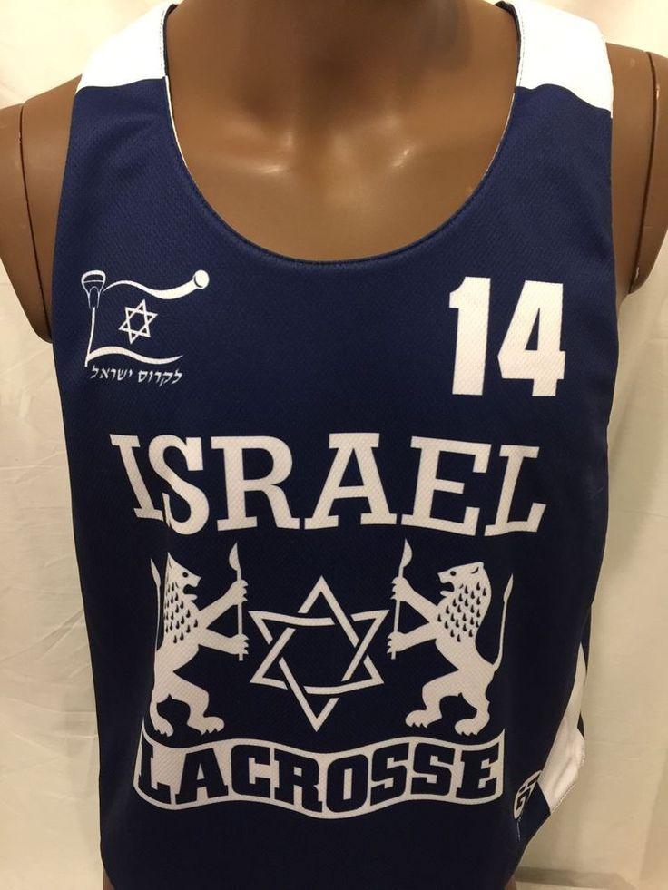 ISRAEL lacrosse Team Small Reversible Tank Top Lions Star Of David