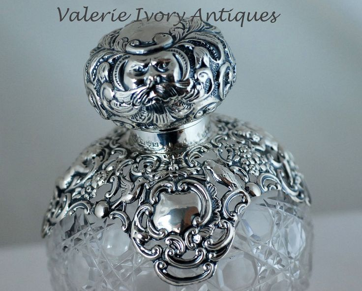Large Sterling Silver and Crystal Perfume Scent Bottle – Chester 1899 in   eBay