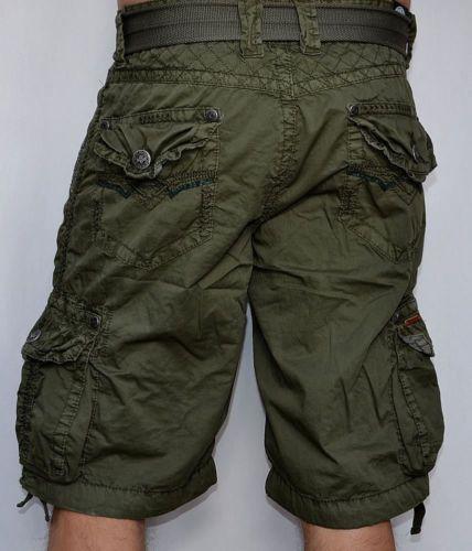 7933f8c687f Affliction Black Premium-observación-Pantalones cortos estilo cargo de  Hombre-Verde Militar