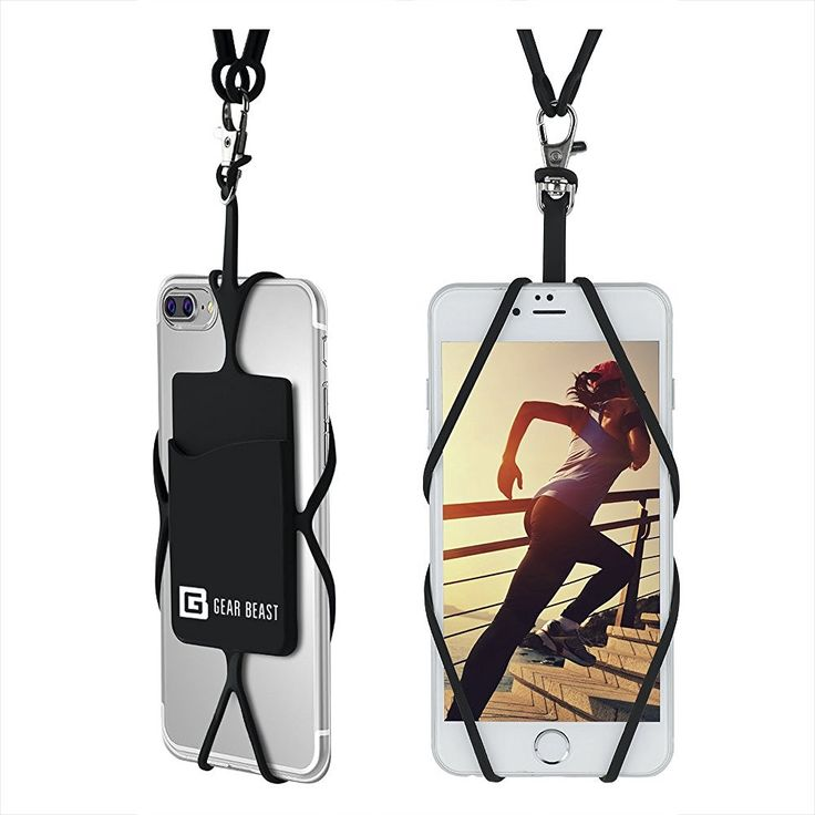Amazon.com: Cell Phone Lanyard Strap, Gear Beast Universal Smartphone Case Cover Holder Lanyard Necklace Wrist Strap With ID Card Slot For iPhone 7 6S 6 Plus Galaxy S7 S6 Edge Note 7 5 4 and Other Mobile Phones: Cell Phones & Accessories