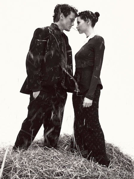 Anton Yelchin & Felicity Jones by Andreas Sjodin fot InStyle