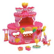 my little pony Ponyville Rollerskate Party Park Open the doors of this pink playset to reveal a world of party fun. Turn the thumb wheel to twirl the roller skating rink, decorate the party table or push pony on her very own scooter. Colour and sty http://www.comparestoreprices.co.uk/role-play-toys/my-little-pony-ponyville-rollerskate-party-park.asp