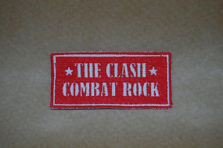 Patch The Clash Combat Rock 100% bordado Medida: 5x10cm #donaramona #patch #embroidery #theclash #clashcombat #combatrock