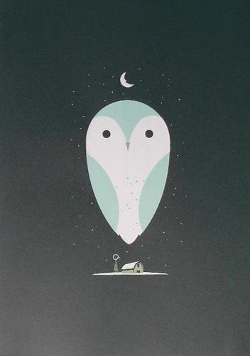 barn owl art print: a barn owl beaitfully rendered @ poster cabaret