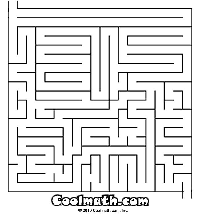 Mazes for kids cool math games and cool math on pinterest