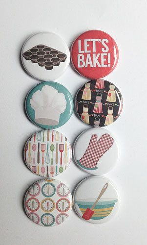 Let's Bake 1 Flair by aflairforbuttons on Etsy, $6.00 #aflairforbuttons #flair #flairbuttons #baking