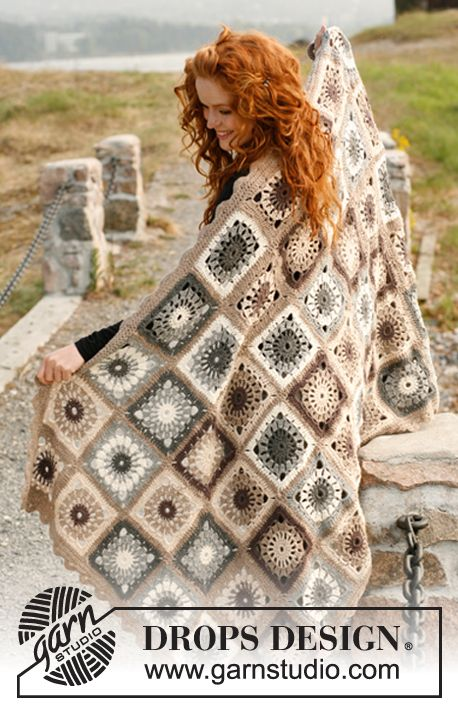 Latte Machiatto - the perfect #crochet blanket to curl up in on the sofa #dropsdesign