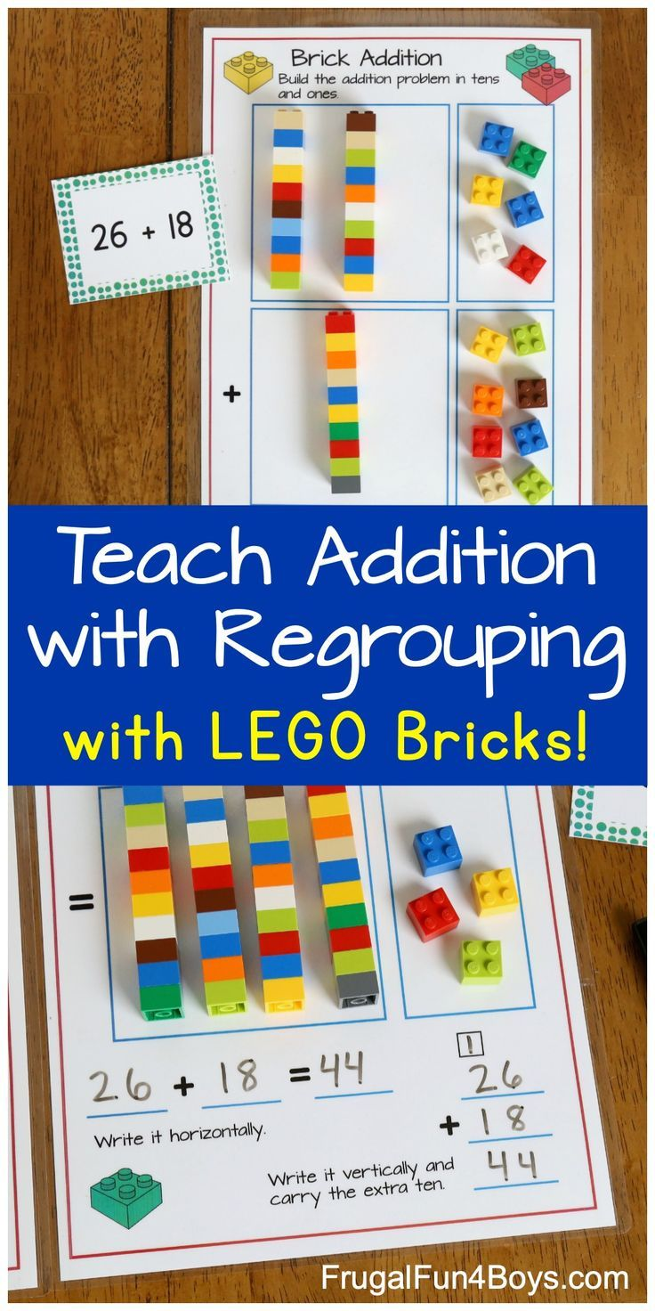 Addition With Regrouping With Lego Bricks Frugal Fun For Boys And Girls Lego Math Math Activities Subtraction Activities Addition without carrying is called