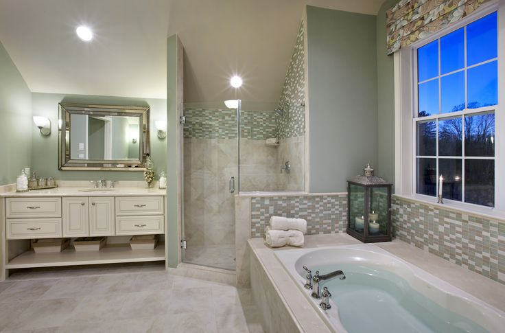 A Gorgeous Master Bathroom Toll Brothers At Greenville Overlook De Bathrooms Pinterest