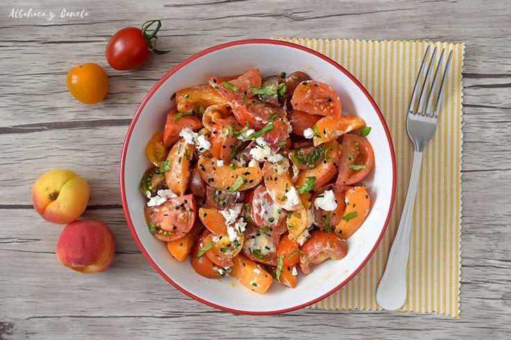 Tomatoes apricot salad