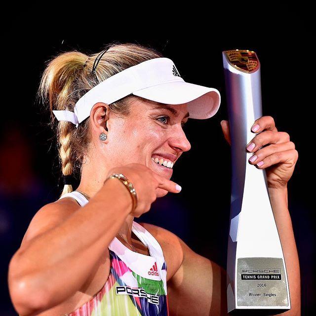Back to Back! @Angie.Kerber defends her @PorscheTennis title!