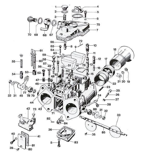 weber 45 dcoe carburetor diagram
