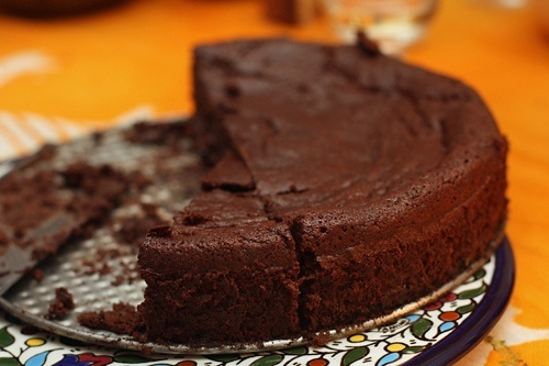 chocolate cake with prunes sweet