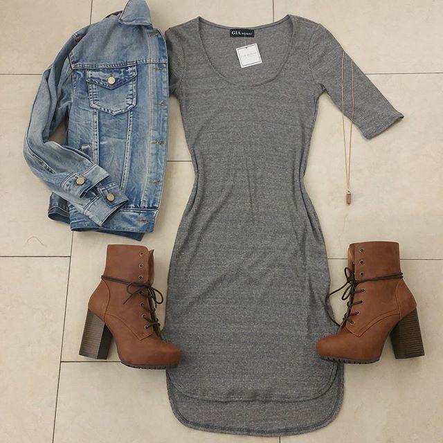 Dress/jacket; different shoes