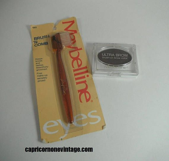 Vintage 70s Maybelline Brush N Comb and Ultra Brow Makeup 1979