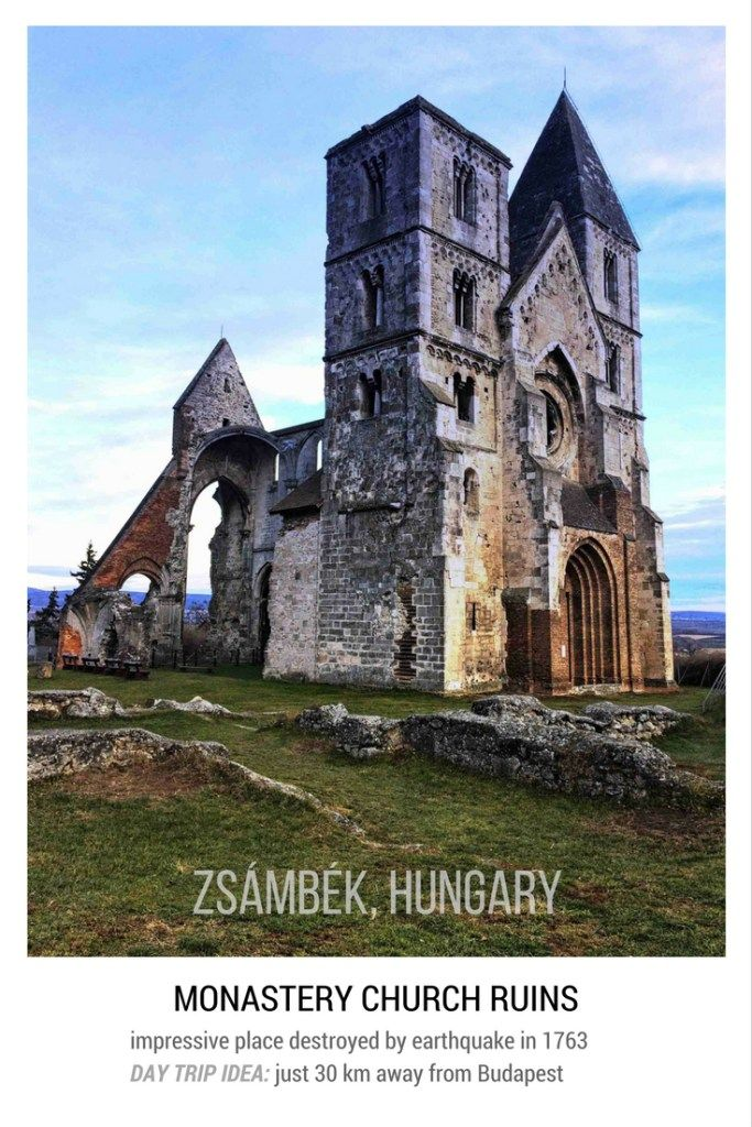 Day trip from Budapest: Ruins of Zsámbék monastery church destroyed by earthquake in 1763. Stunning place to visit.
