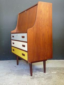 secretaire-vintage-peint-jaune-gris-blanc-6