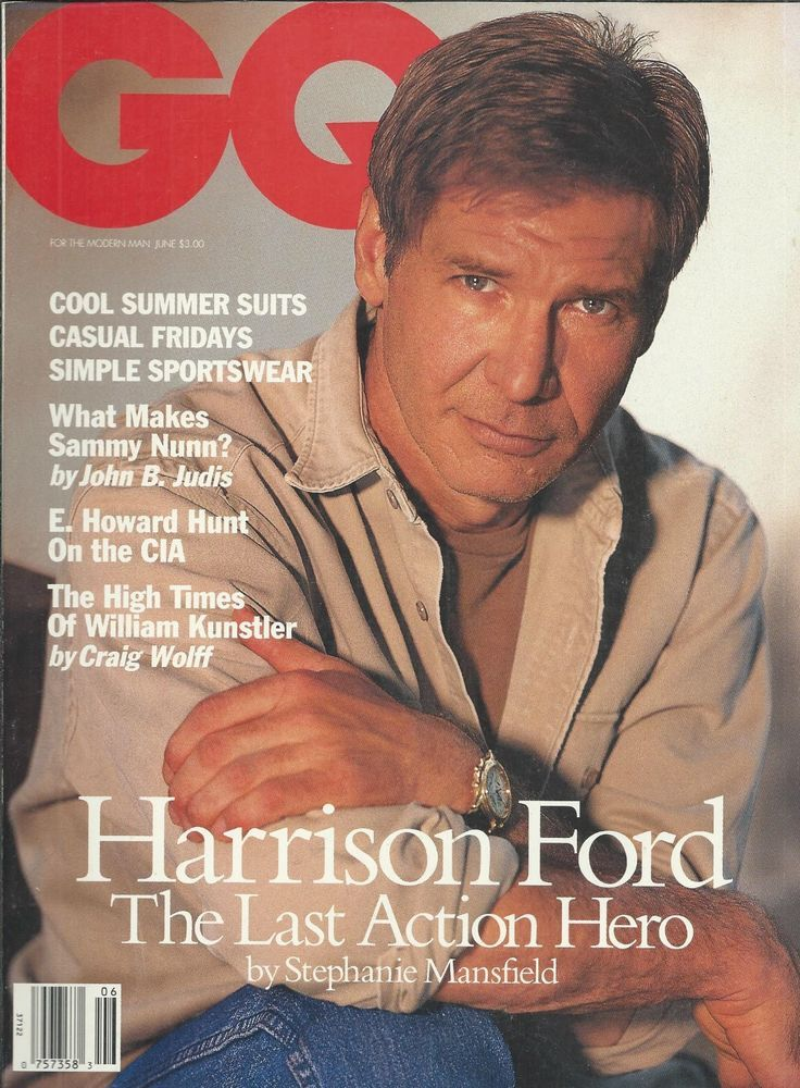 GQ magazine Harrison Ford Sammy Nunn William Kunstler Soccer World cup Style