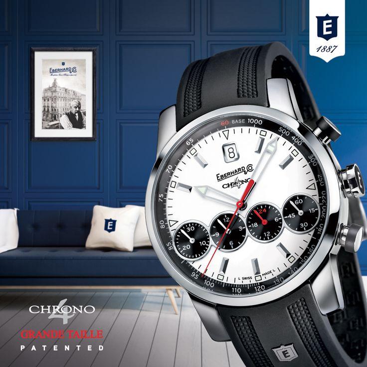 Chrono 4 Grande Taille #countersinline #patented #registereddesign #eberhard_co #eberhardwatches #eberhard #chronograph #revolutionarychronograph
