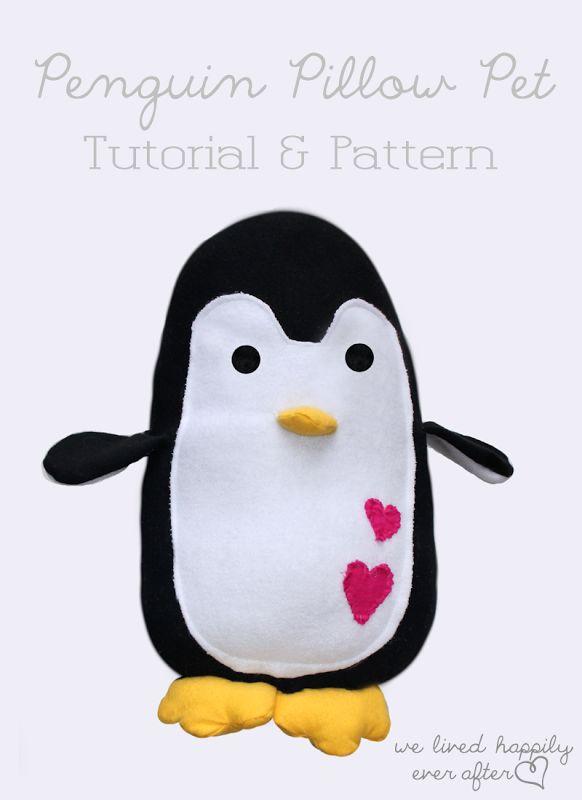 DIY Penguin Pillow Pet
