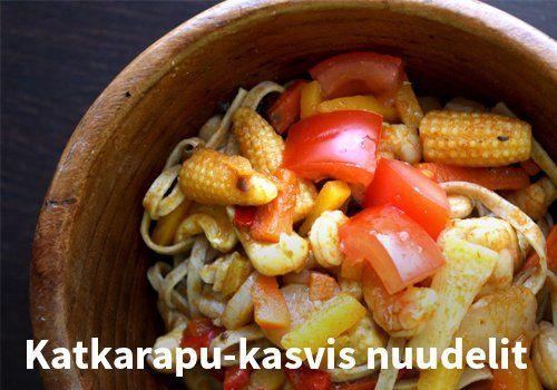 Katkarapu-kasvis nuudelit #kauppahalli24 #resepti #katkarapu #nuudeli #ruokaidea #arkiruoka #verkkoruokakauppa