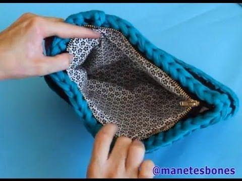 Cómo forrar un bolso de trapillo