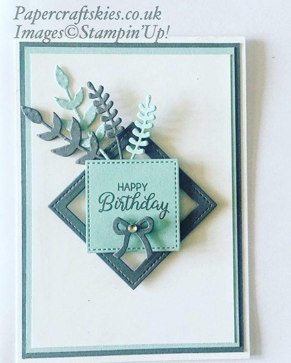"""25 + › Hallo, für die heutige Karte habe ich das Briefmarkenset """"Beutiful Bouquet"""" und den passenden Rahmen verwendet …"""