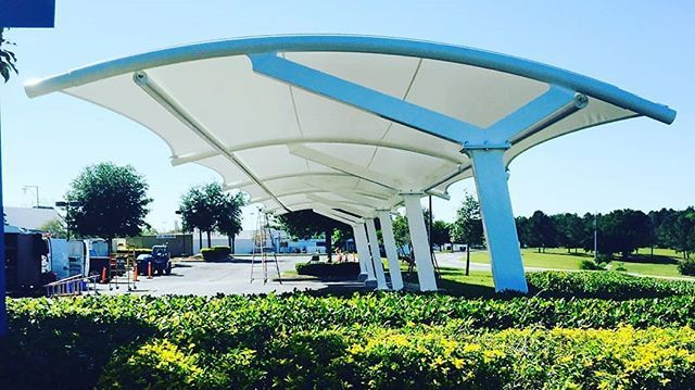 Car Parking Shade In Tensile Fabric Structure Canopies Tensilestructure Tensilestructures Tensilestructureindi Shade Structure Architecture Design Builder