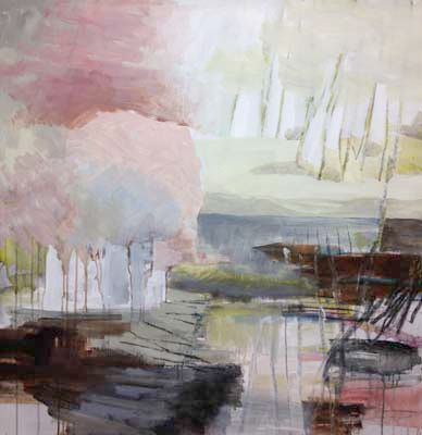 "Carin Lundblad, Sweden. Painting 2012 ""Dry and pale"" about 110 × 110 cm."