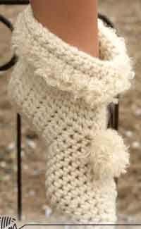 DROPS Crochet Slippers in Eskimo - 100+ Free Crocheted Slipper Patterns @ AllCrafts.net