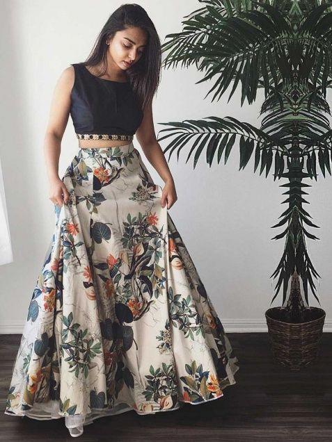 Imposing Crepe Silk Floral Print Multicolour Lehenga