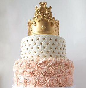 Royal Princess Baby Shower Cake