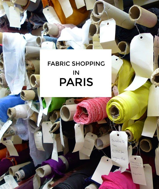 Fabric shopping in Paris