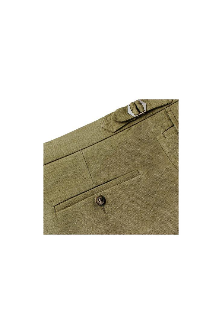 Spodnie męskie lniane Moss