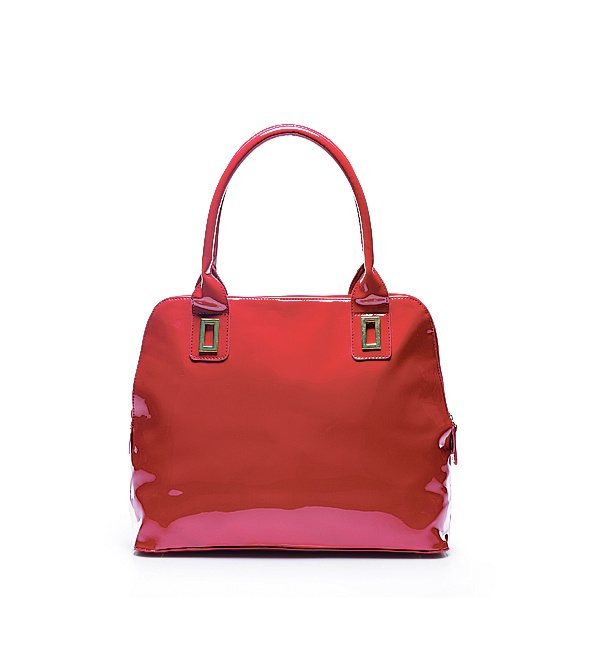 Red Patent Shopper