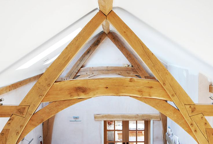 121 best timber rafters images on pinterest carpentry for Cruck frame house plans