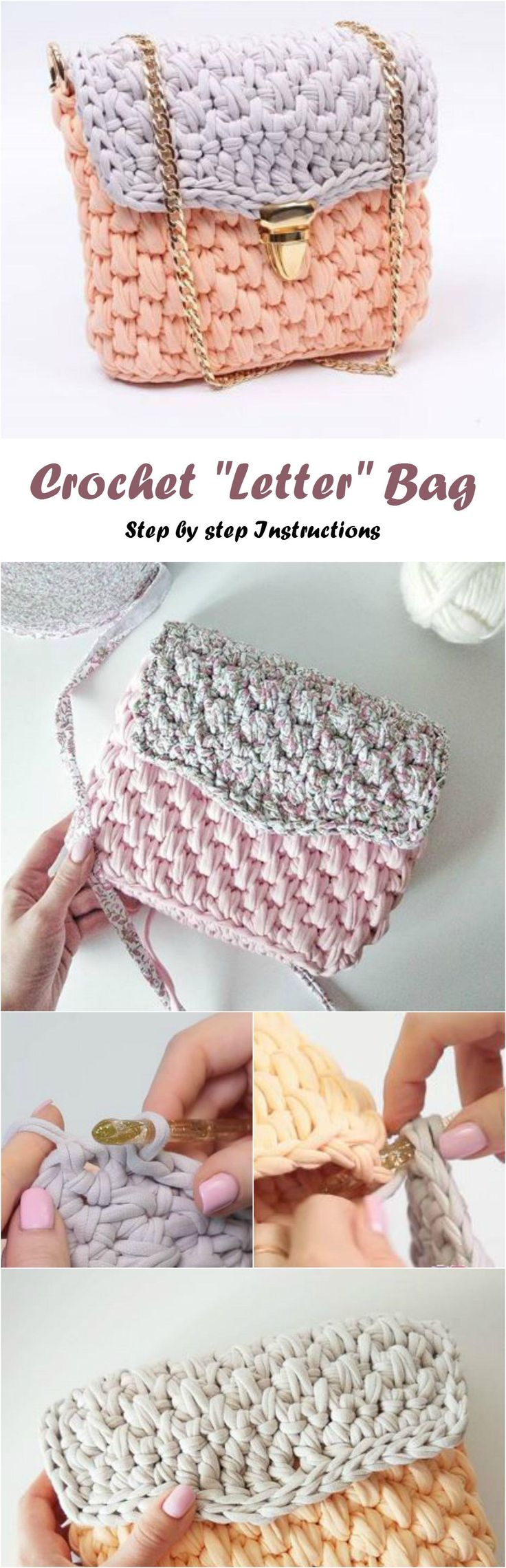421 best crochet bags images on pinterest crochet bags crochet letter bag bankloansurffo Choice Image
