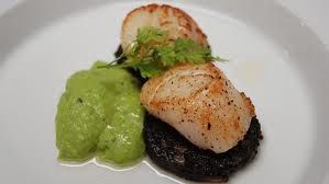 Starter - Scallops & Stornoway black pudding - Google Search