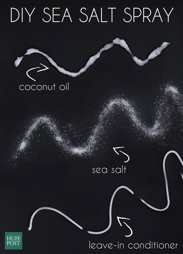 For soft, beachy waves, it doesn't get any better than this DIY sea salt spray