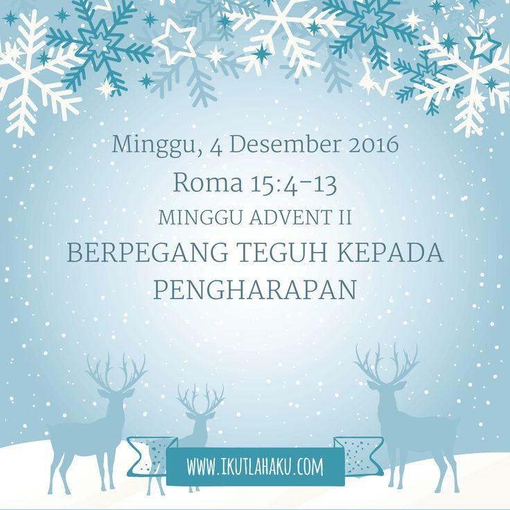 Renungan Hari Minggu 4 Desember 2016