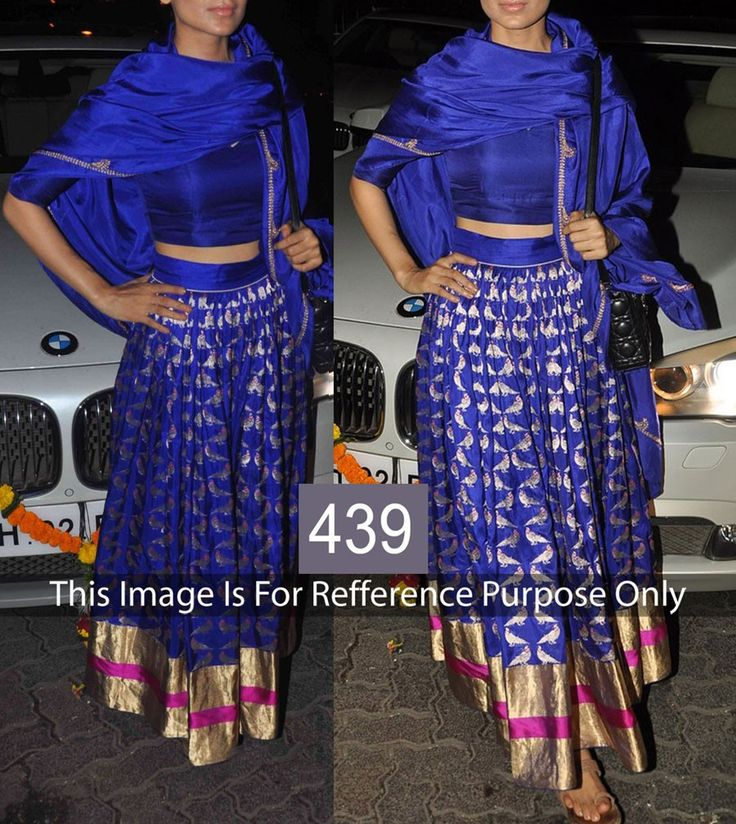 Georgette Machine Work Blue Semi Stitched Bollywood Style Lehenga - 439 at Rs 2889